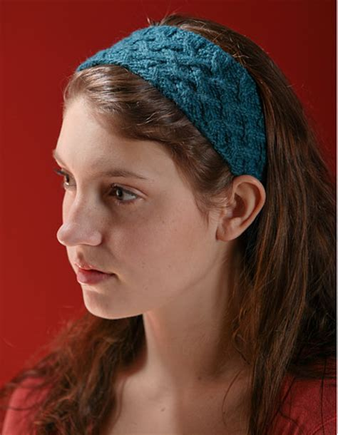 knitted headband patterns lattice cable headband pattern knitting patterns and