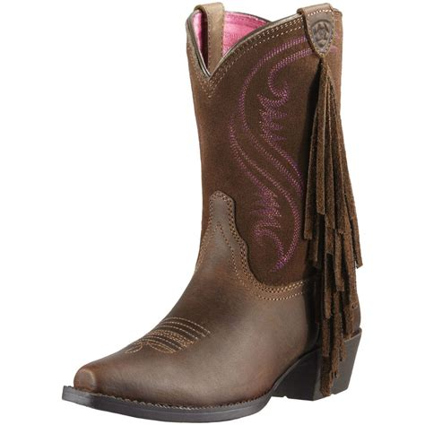 youth boots ariat youth fancy fringe snip toe cowboy