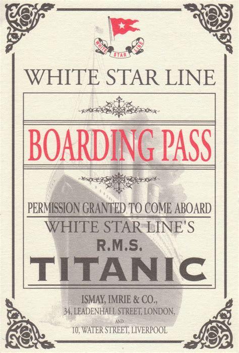 printable titanic tickets a sakura story titanic exhibit