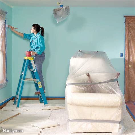 before painting a room paint a room without a mess the family handyman