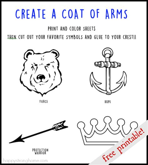 make your own coat of arms template create a coat of arms activity free printable