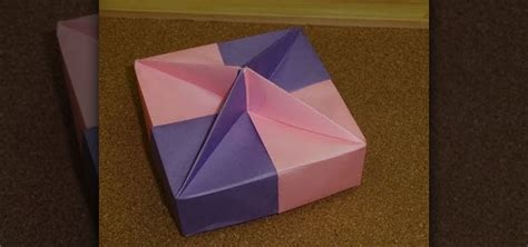 How To Fold A Paper Box - how to fold a square shaped gift box with a knob