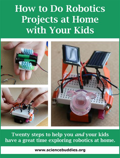home robotics maker inspired projects for building your own robots books how to do robotics at home with your