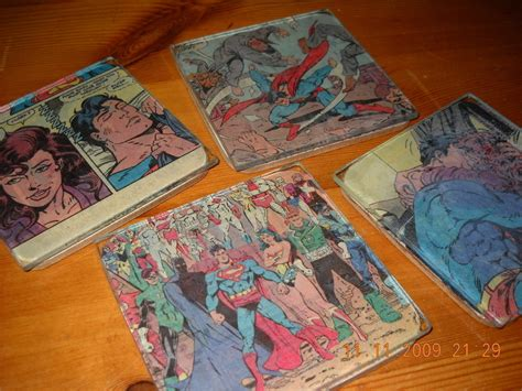 how to decoupage coasters comic book coasters 183 how to make a coaster 183 papercraft