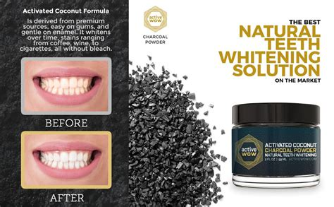 amazoncom active wow teeth whitening charcoal powder