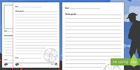 Remembrance Day Ks1 Thank You Letter Template Activity Letter Template Activity