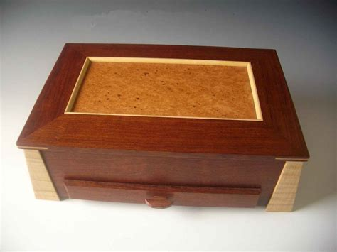 Handcrafted Boxes - handcrafted wood box and contemporary jewelry box in one