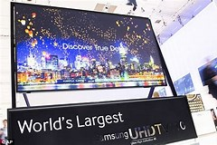 Image result for largest tv screen sizes. Size: 240 x 160. Source: www.dailymail.co.uk