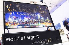Image result for What is the biggest TV screen?. Size: 242 x 160. Source: www.dailymail.co.uk