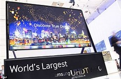 Image result for What is The biggest TV Screen?. Size: 245 x 160. Source: www.dailymail.co.uk