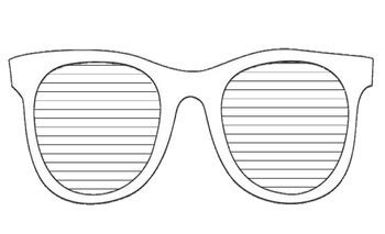 printable template sunglasses templates clipart sunglass pencil and in color templates