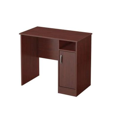 Office Depot Small Desk South Shore Freeport Small Work Desk In Royal Cherry 7246075 The Home Depot