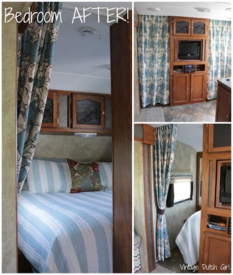 bedroom privacy curtains vintage dutch girl travel trailer makeover part 8