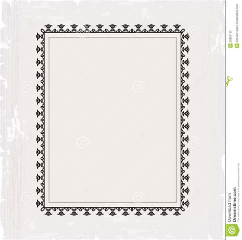 card frame template vintage frame template for post card stock photos image