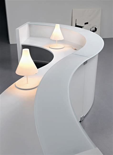 mondolo wave shaped reception desks  solid surface
