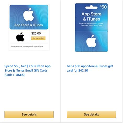Amazon Gift Card Deals November 2017 - amazon discounted itunes gift card deals points miles martinis