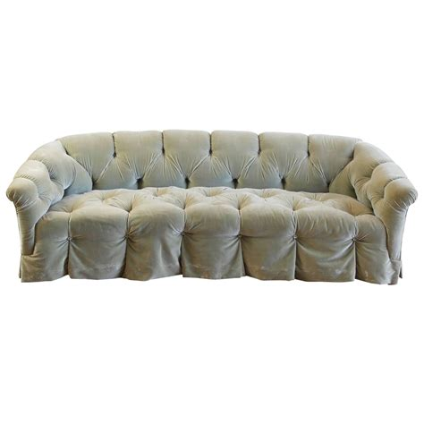 velvet sofas for sale rare tufted velvet sofa by anthony hail for sale at 1stdibs