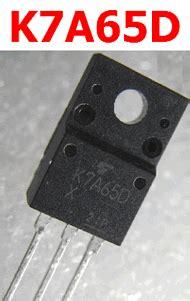 transistor k7a65d k7a65d datasheet vdss 650v nch mosfet toshiba