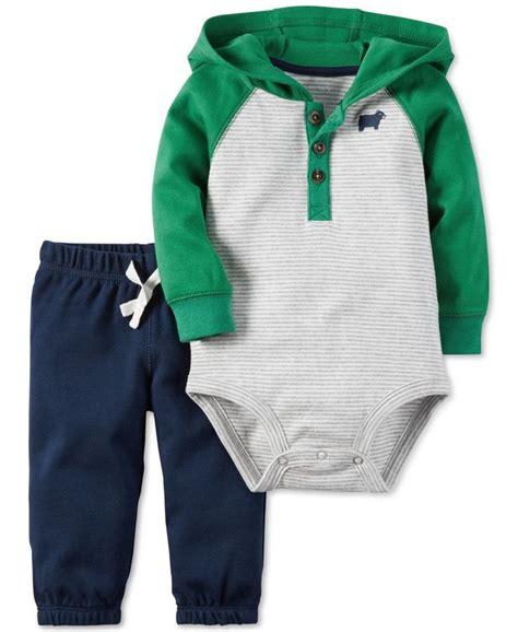 S 3 Babyboy Bodysuit And Pant Set Cs074 s baby boys 2 pc sleeve hooded bodysuit pull on set rhett and logan