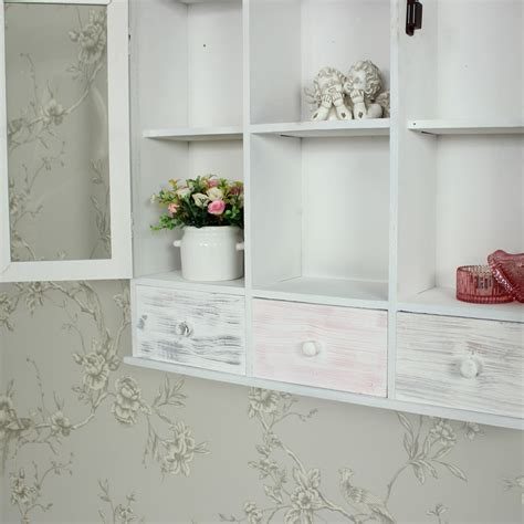 shabby chic wall cabinets for the bathroom wall mounted grey wooden storage shelving cabinet shabby