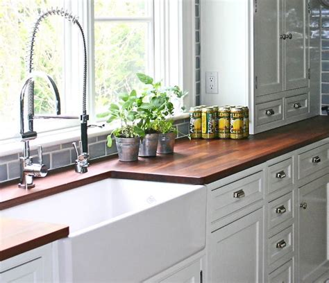 White Kitchen Cabinets With Butcher Block Countertops Pinterest The World S Catalog Of Ideas