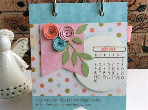 Handmade Calendars - handmade desktop calendar part 5 wrap in ink