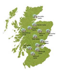 scotland castles map pictures to pin on pinterest