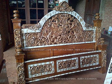 Ranjang Kayu Jepara dipan ranjang tempat tidur kayu jati ukiran jepara 180x200cm ud lumintu gallery furniture