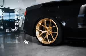 black audi s5 gets gold pur wheels autoevolution