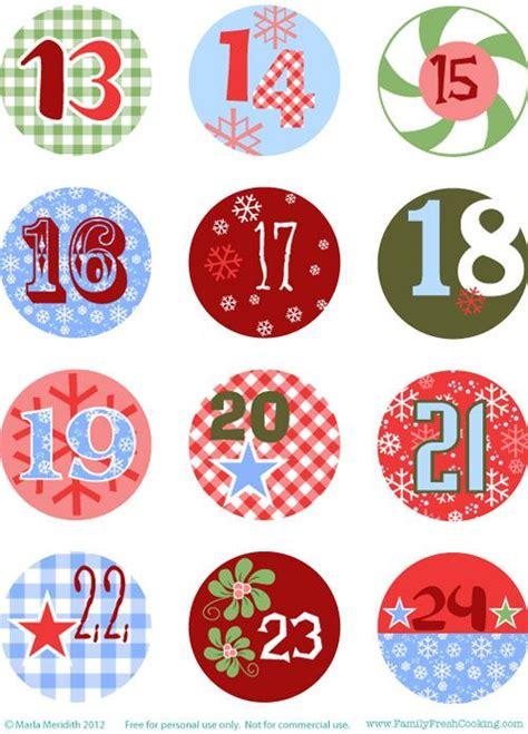 printable advent calendar numbers diy freebie advent calendar advent calendar pinterest