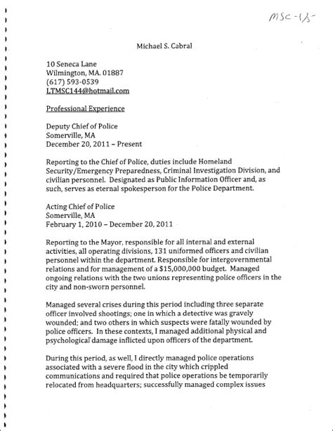 chief resume sle resume resume cv cover letter picture of printable probation