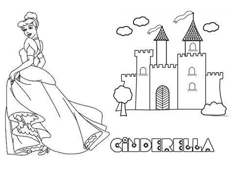 easy cinderella castle coloring coloring pages easy cinderella castle coloring coloring coloring pages