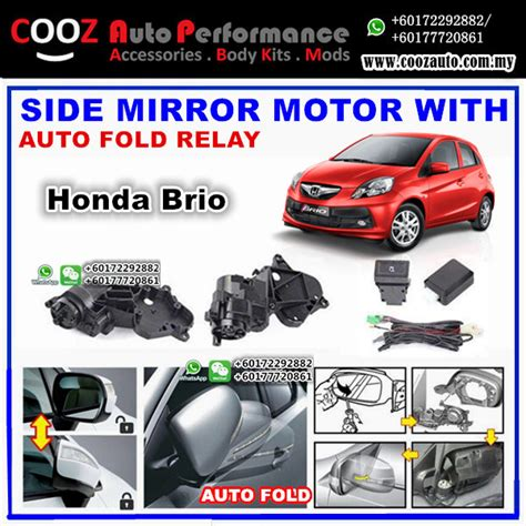 Tank Cover Honda Brio Jsl honda brio ef side mirror autofold motor powerfold actuator with auto fold folding relay