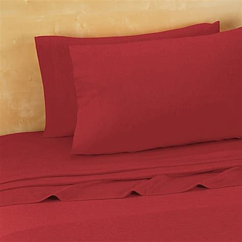 jersey bed sheets buy brooklyn flat extra soft jersey queen sheet set in red