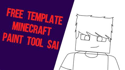 Template Minecraft Paint Tool Sai