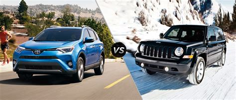 toyota jeep 2016 2016 toyota rav4 vs 2016 jeep patriot