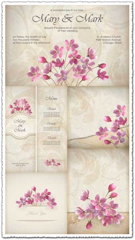 wedding invitations  cards vectors