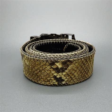 Kulit Ular Phyton Asli Fusiaabuungu sabuk kulit ular phyton asli pusaka dunia