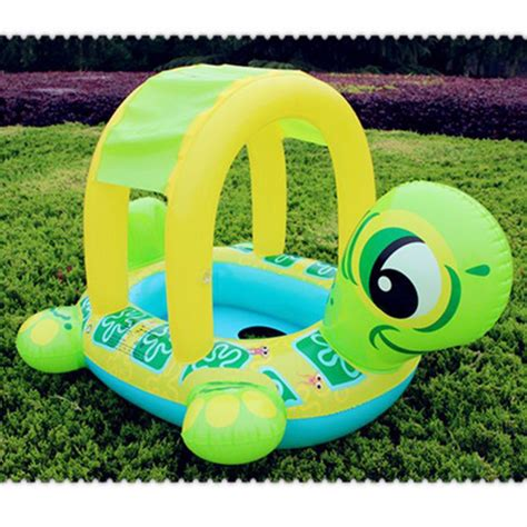 baby pool seat with shade high quality baby swimming ring float seat turtle