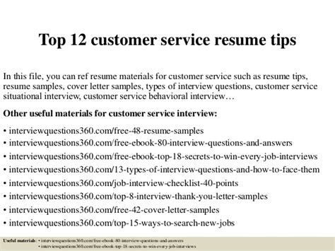service tips how to write a great customer service resume