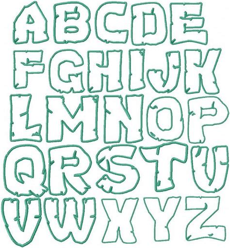 printable ninja letters teenage mutant ninja turtles embroidery font by
