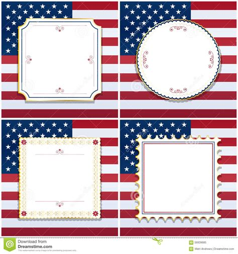 design frame usa 11 x 17 frame vector usa background with stars and