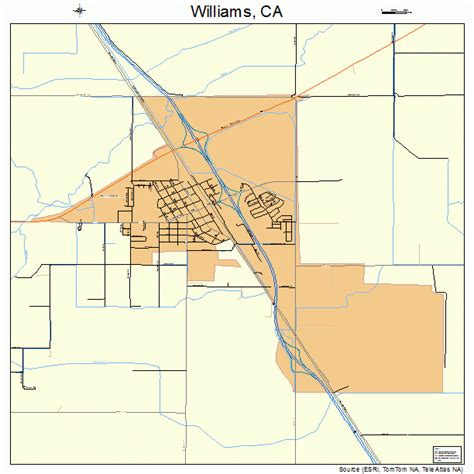 williams california map williams california map 0685586