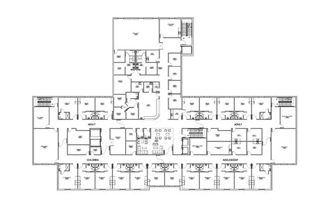 mental hospital floor plan precision constructors hospitals and healthcare facilities