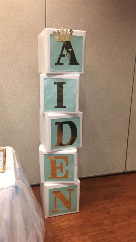 Baby Shower Name by Baby Shower Name Blocks Prince My Events