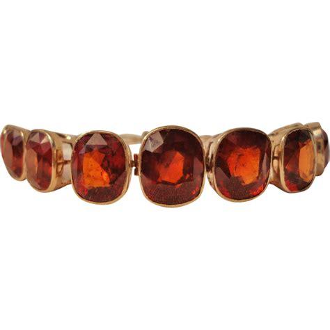 Garnet Pyrope carbuncle pyrope garnet 9 ct gold bracelet