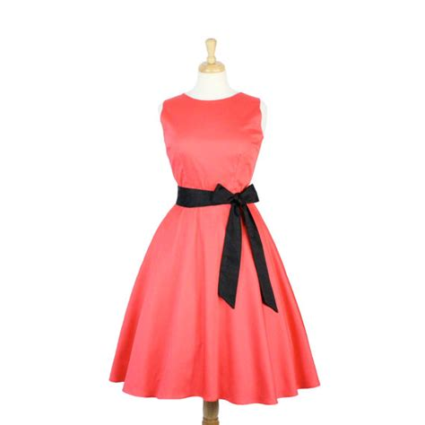 coral classic circle dress with belt item dscf4392