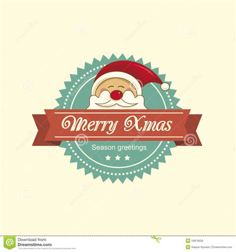 santa christmas label stock vector image  background