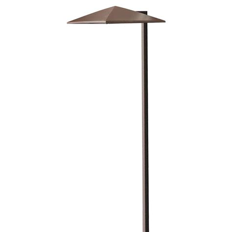 Low Voltage Lighting Outdoor Hton Bay Outdoor Solar Powered Landscape Led Mediterranean Bronze Mission Path Light 4 Pack