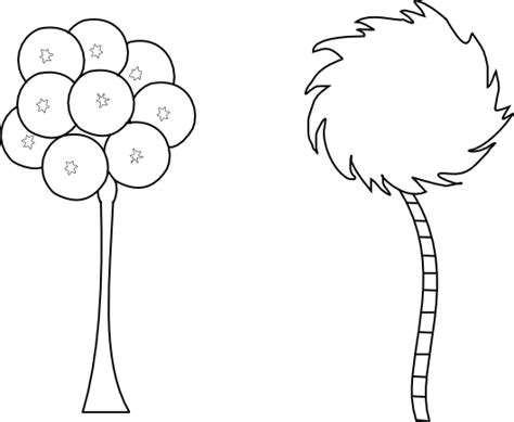 Truffula Tree Coloring Page beyond the fringe prim pear digi and bonus free truffula